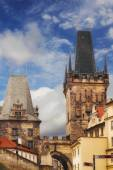 Lesser Town Bridge Tower in Prague, Czech Republic — Stock Photo