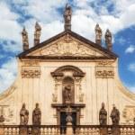 Facade details of St. Savior (St. Salvador) church, Prague — Stock Photo #75321525