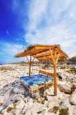 Porto Roxa beach on Zakynthos island, Greece — Stock Photo