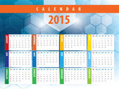 Calendar 2015 futuristic technology — Stock Vector