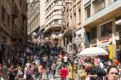 People near street  25 March, city Sao Paulo, Brazil. — Stock Photo