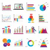 Business data market charts diagrams and graphs — Stock Vector