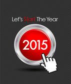 2015 web start button — Stock Vector