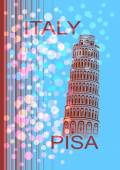 Italy. Pisa — Stock Vector