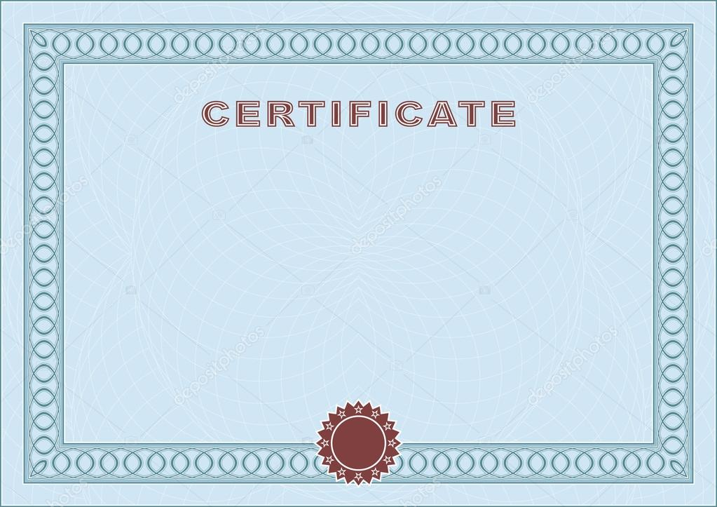 Blank certificate forms