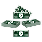 Set of dollars — Stock Vector
