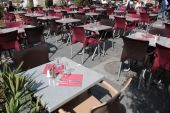 Outdoor tables — Stock Photo