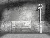 White lonely streetlight — Fotografia Stock