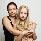 Two women mother and daughter — Stock Photo