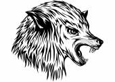 Wolf growls — Stock Vector