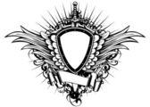 Board sword wings3 — Stock Vector