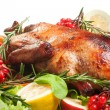 Roasted duck with vegetables — Stock Photo #69716139