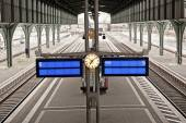 European train station — Stock Photo