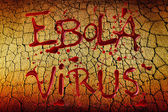 Words Ebola Virus over grunge background — Foto de Stock