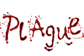 Word Plague isolated over white — Stock Photo