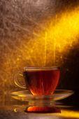 Transparent cup with tea   — Stock Photo