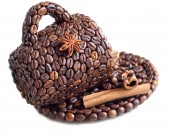 The cup made of coffee beans — Stok fotoğraf