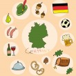 The set of national profile of the germany cartoon state of the world isolated — Stock Vector #69326317