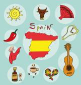 The set of  national profile of the geographic maps of the spain — Stock Vector