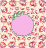 Seamless pattern with flowers. Gretting card with rose,lily,aster. — Stock Photo