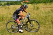 Mountain bike rider — Stock Photo
