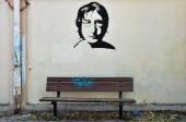 John lennon graffiti — Stock Photo