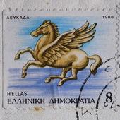 Pegasus postage stamp — Stock Photo
