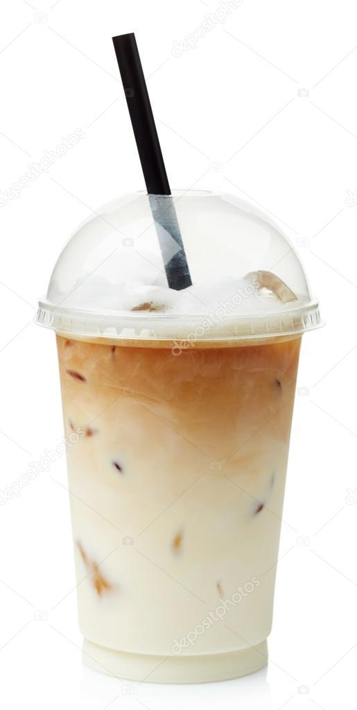 アイス コーヒー カフェラテ– ストック画像