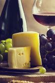 葡萄酒和奶酪 — 图库照片