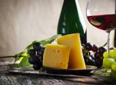 Vinho e queijo — Foto Stock