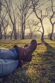 Resting in nature — Stock Photo