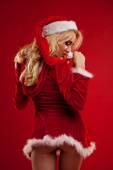 Sexy santa. — Stock Photo