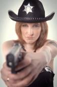 Tattoos sheriff policeman — Stock Photo