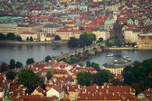 Prague through the eyes of birds — Stock Photo