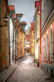 Old streets of European cities. — Stock Photo