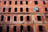 Old ruined brick building — Stock Photo