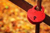Red heart lock — Stock Photo