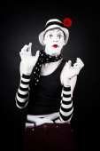 Cheerful mime  — Stock Photo