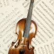 Old violin with musical notes — Stock Photo #70531179