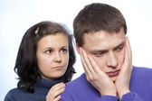 Young couple quarreling  — Stock Photo
