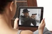 Film d'action sur tablette — Photo
