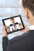 Video konferans — Stok fotoğraf