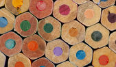 Texture of colored pencils — Stock Photo