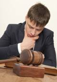 Lawyer in court — Stock Photo