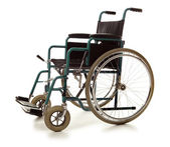 Wheelchair isolated — Stock Photo