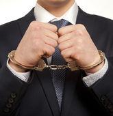 Arrested businessman — Stock Photo
