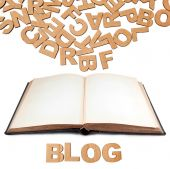 Paper letters forming word Blog — Stock Photo