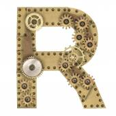 Steampunk alfabet litery R — Zdjęcie stockowe