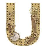 Steampunk alphabet letter U — Stock Photo