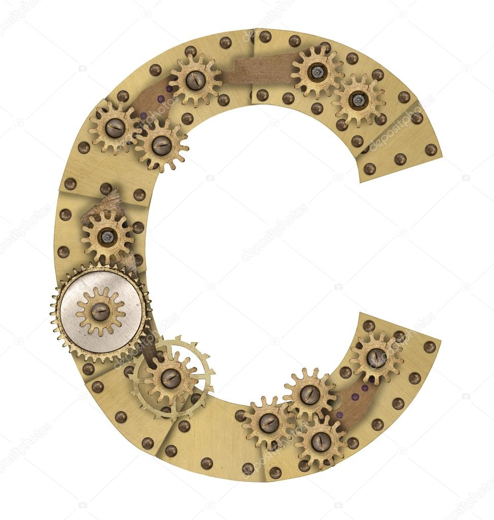 Steampunk Alphabet Letter C  U2014 Stock Photo  U00a9 Andreyuu  74699117